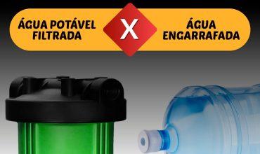 Água engarrafada ou água potável filtrada? Saiba qual delas é a melhor para ser consumida.